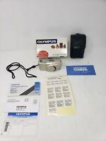 Olympus Stylus Epic Zoom 115 DLX 35mm Point & Shoot Film Camera Case Box Manual