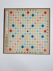 Scrabble Replacement Game Board Only From 1976 Version Selchow & Righter Co.