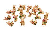 24 Glücksschweinchen 4 Motive Glücksbringer Schwein Glück Kleeblatt Mini Figur