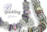 Brighton Beads Spacers Stoppers New & Retired Fine Silver Plate Swarovski