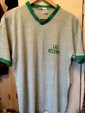 Vintage LAKE NEEDWOOD Champion 50/50% Green Color V Neck Thin T Shirt. Size XL
