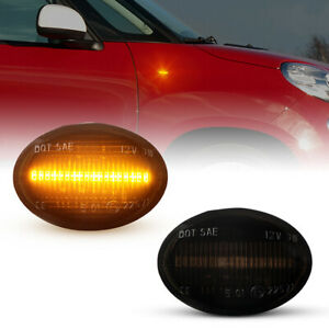 LED Indicators for All Fiat 500, 500C, 500L Year From 2007- Black