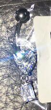 Taglio a cuscino triangolo e taglio a smeraldo Piercing Da Ombelico Dangle