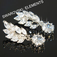 SALE 18K White Gold Plated Earring made with Swarovski Crystal Bridesmaid  E417