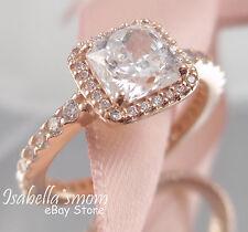 TIMELESS ELEGANCE Authentic PANDORA Rose GOLD Plated~ZIRCONIA Ring Sz 5 (50) NEW