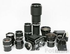 COMPLETE ROLLEI SL66 SET WITH RARE PROTOTYPE ITEMS + 9 DIFFERENT LENSES INCLUDED
