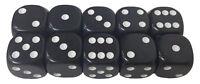 10 Würfel 18 mm schwarz Kunststoff - Würfelspiel Brettspiel Zaubertrick