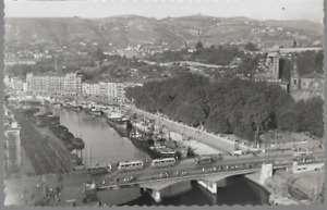 Bilbao, Spain - Victory Bridge & canal - RP postcard c.1950s
