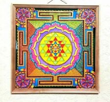 Stained glass paint Sri Yantra Vedic astrology Jyotish Mandala glass art Vastu