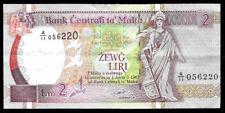 World Paper Money - Malta 2 Liri 1967 (1989) P41 @ Crisp Vf