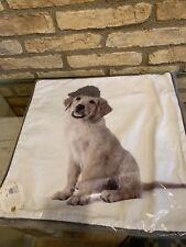 "Pottery Barn PB Teen Golden Retriever ASPCA Party Dogs Pillow Cover 18"""