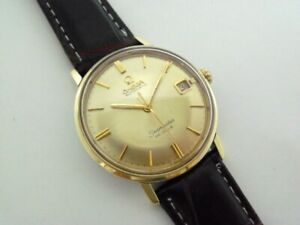 VINTAGE OMEGA SEAMASTER DeVILLE DATE GOLD & SS AUTOMATIC WATCH Ca.1960's.