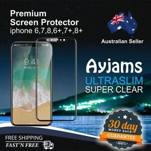 2X Premium Tempered Glass Screen Protector for All iPhone models 6/7/8 X