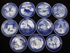 Royal Copenhagen Set of 11 different Annual Christmas Plates 1963 - 1989