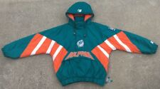 NICE Vintage 90's MIAMI DOLPHINS Pro Line Authentic Starter Men's Hooded Coat L