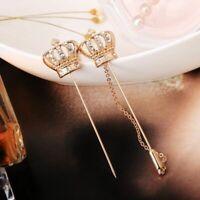 Crystal Crown Badge Brooch Lapel Pin Men Women Shirt Suit Wedding Accessory Gift