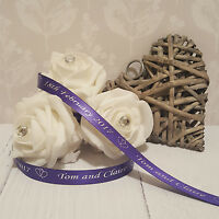 10mm Personalised Printed Ribbon - Wedding - Gift Wrapping - New Baby - Birthday