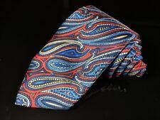 """New TURNBULL & ASSER Paisley Hand Made 100% Silk Mens Luxury Tie - 3.5"""""""