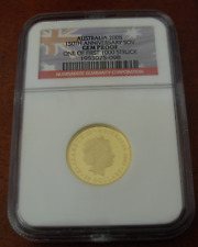 Australia 2005 Gold Sovereign $25 NGC Gem Proof 150th Anniversary FirstSovereign