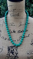 """Green Plastic Beads with Tiny Gold Spacer Beads Costume Fashion 24"""" Necklace"""