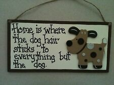dog sign FUNNY home is where the dog hair sticks Country Cuties  Dogs & Puppies,