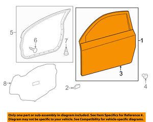 Scion TOYOTA OEM 12-15 iQ-Door Shell Frame Panel Left 6700274031