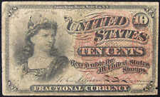 1862-1876 10c Fractional Note Random Issue Currency G Good