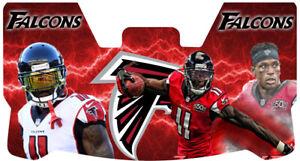 Custom Falcons Julio Jones Football Helmet Visor, W/ Unbranded Clips