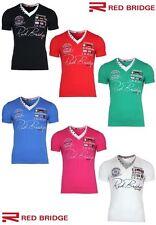 Figurbetonte Redbridge Herren-T-Shirts mit V-Ausschnitt