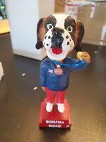 Dubuque Fighting Saints Olympian Bernie Mascot Bobblehead Gold medal NIB USA