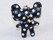 "Puff Planet Button-Eyed Stitch Doll Charm w/Keychain & Lanyard Clip ~ ""Boggie"""