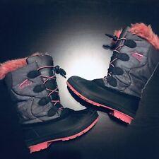 Arctic Cat Snowcharm Snow Boot - Charcoal/Pink - Girls Size 1