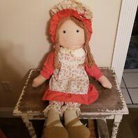 """Vintage 1970's Knickerbocker Original Holly Hobbies friend (Carrie) 36"""" Rag Doll"""