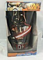 Star Wars Pint Glasses 16 oz Darth Vader Pint Glass Disney Lucas Brand NIB FS