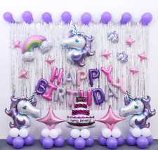 58 Pcs Unicorn Birthday party Supplies Unicorn Balloons decoration Set U.S.A
