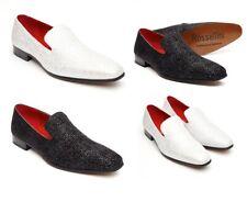Carlo Para hombre Zapatos Brillantes Círculo Spangle Mocasines desgaste del partido (Negro, numérico _ 11)