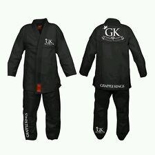 Grapple KINGS BJJ GI black Tatami Koral MMA judo juijitsu UFC FREE DELIVERY A2