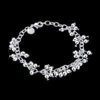 ASAMO Damen Armband mit kleinen Kugeln 925 Sterling Silber plattiert A1085