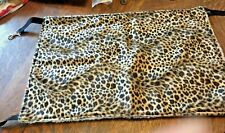 Leopard Print Pet Rat,Small Dog,Ferret,Cat Cage Hammock/Bed Cover W/Clips New