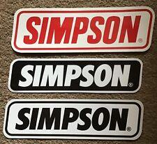 SIMPSON motorcycle helmets 🇺🇸 large genuine decals / RX range & M30 range STIG