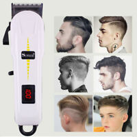 Professional Men Electric LED Hair Clipper Trimmer Haircut Machine Barber Shaver