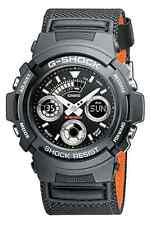 Casio Herren-Armbanduhr G-Shock Edelstahl Nylon Quarz Schwarz AW-591MS-1AER