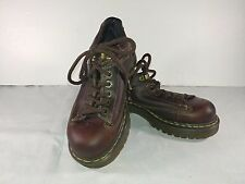 Dr Martens 9A53 Brown Leather Platform Shoes Womens Size EU 38 UK 5 US 7