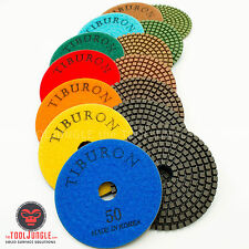 Diamond Polishing Pads 4 inch 7 Pieces Set Made in Korea 3.2mm Thick Granite