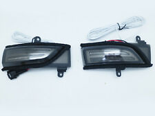 Side View Mirror Sequential Turn Signal Kit Smoked w/ DRL LED For Subaru WRX STI