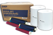 "DNP 4x6"" Dye Sub Media for DS620A Printer, 400 Prints Per Roll x2  DNP Dealer"