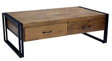 Couchtisch 120x70 Massiv Holz Mango Metall Design Industrie Möbel Neu Loft Retro