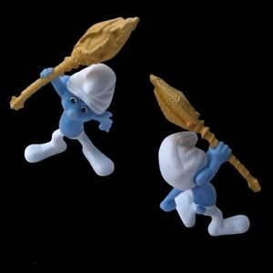 Peyo 2011 Smurf Clumsy Gargamels Dragon Wand Collectible Figure Happy Meal Toy