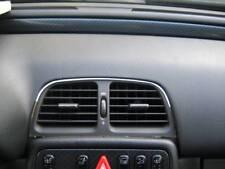 D Mercedes W208 CLK Chrom Rahmen für Lüftungsschacht Mitte - Edelstahl poliert