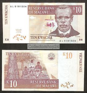 Malawi 10 Kwacha 1997 Unc Pn 37